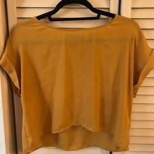 Yellow Blouse with folded sleeves